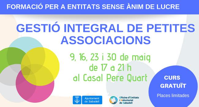 Segona edició del curs de Gestió Integral de Petites Associacions
