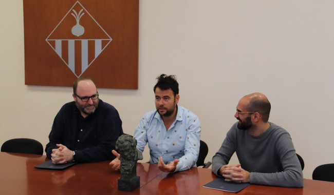 Recepció a Lluís Rivera, guanyador del premi Goya als millors efectes especials per la seva feina a Superlópez