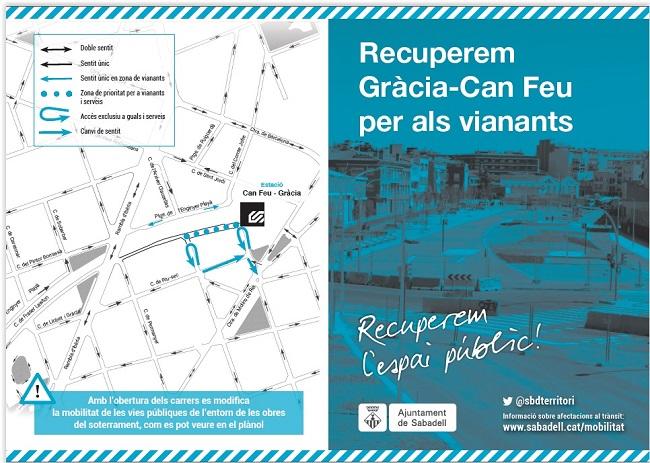 S'obre definitivament el pas entre els barris de Gràcia i de Can Feu, un cop acabades les obres del ferrocarril
