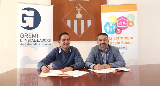 L'Ajuntament i el Gremi d'Instal·ladors Electricistes i Fontaneria col·laboren per donar suport a les persones afectades per la pobresa energètica