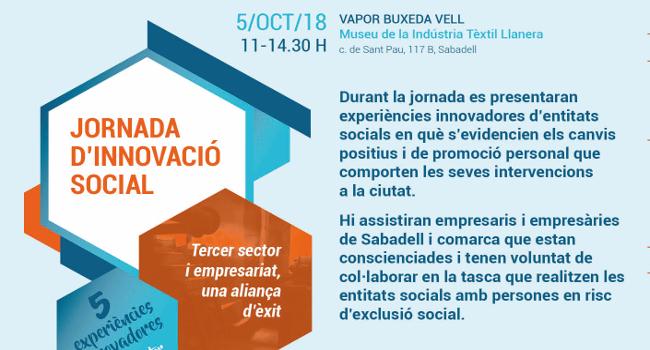 Cinc entitats de Sabadell expliquen les seves experiències d'innovació en l'àmbit de la intervenció social