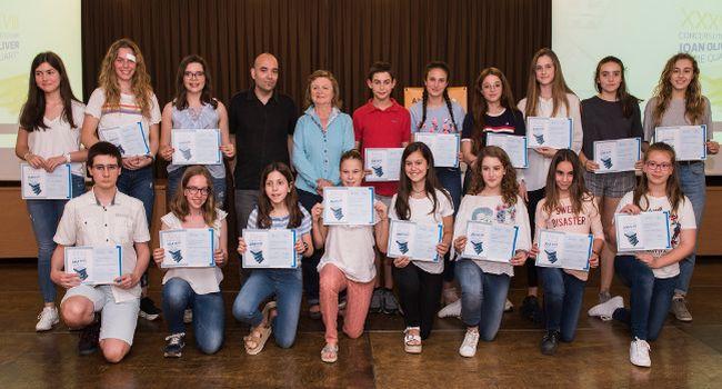 Lliurament de premis del 38è Concurs Literari Joan Oliver per a nois i noies d'11 a 18 anys