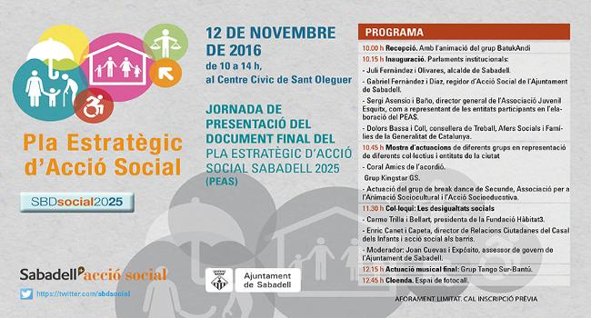 Presentació del Pla Estratègic d'Acció Social davant les entitats que han participat en la seva elaboració