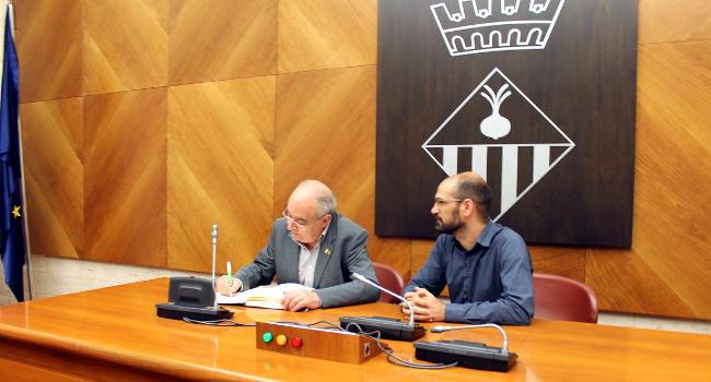 El conseller Bargalló reafirma el compromís de la Generalitat de construir al més aviat possible els edificis definitius de l'Escola Virolet i l'Institut de Can Llong