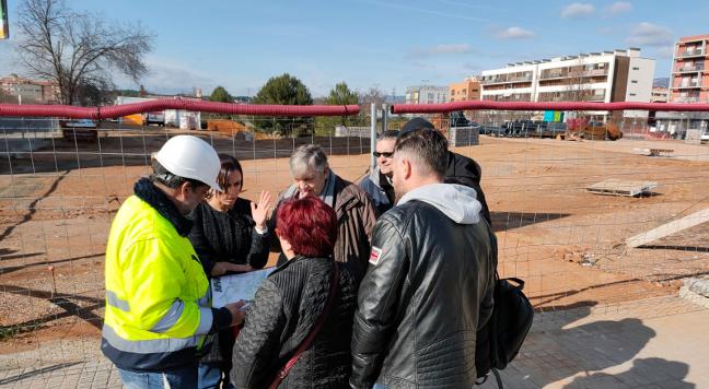 Les obres a la plaça de Lisboa van cobrint etapes