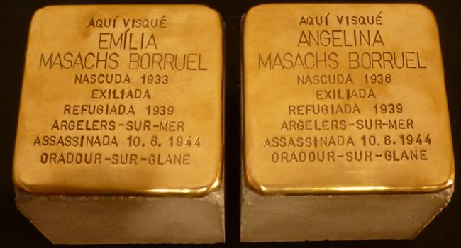Exposades dues noves stolpersteine en homenatge a dues germanes sabadellenques assassinades per l'exèrcit nazi