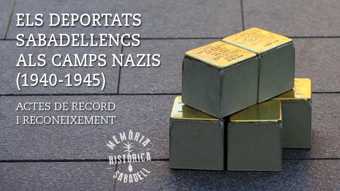 Homenatge als ciutadans deportats als camps nazis amb la col·locació de 23 llambordes stolpersteine