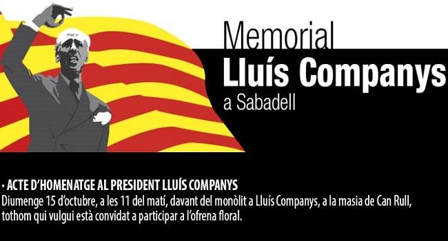 Sabadell homenatja el president Lluís Companys amb diferents actes