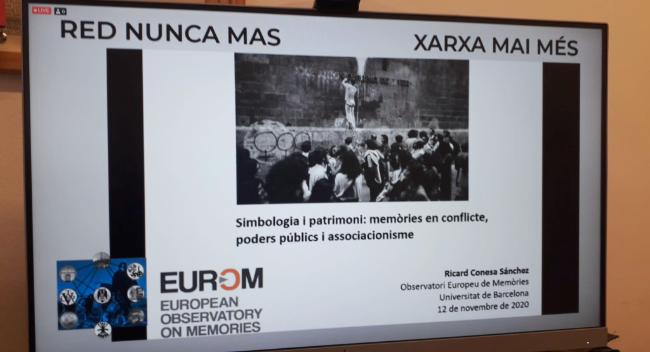 """L'Ajuntament de Sabadell coorganitza el seminari en línia """"Memòria, simbologia i espai públic"""""""