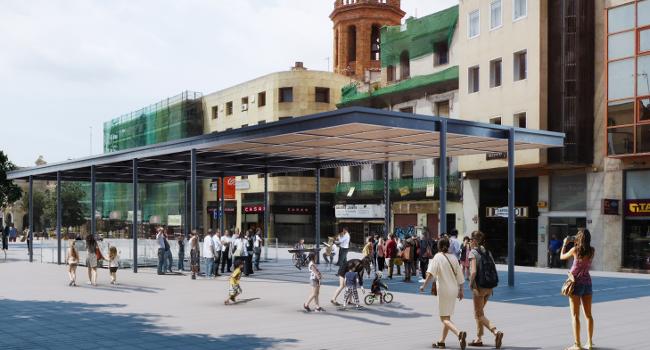 El nou umbracle del passeig de la Plaça Major estarà enllestit aquesta tardor