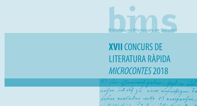 El 17è Concurs de Literatura Ràpida Microcontes ja té les inscripcions obertes
