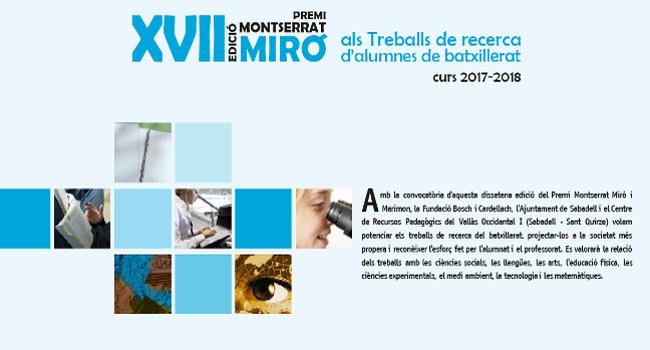 Un treball sobre sensors intel·ligents basats en polímers guanya la 17ª edició dels Premis Montserrat Miró i Marimon
