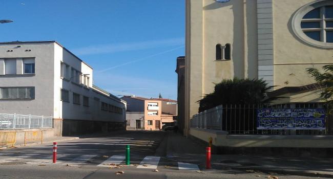 El tram de carrer de Montllor i Pujal que toca al pavelló de Cal Balsach serà només per a vianants