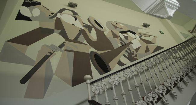 L'Escola Illa realitza un mural per a l'Escola Municipal de Música i Conservatori