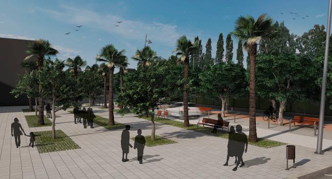 La plaça de Navacerrada es transformarà i s'ampliarà per esdevenir un lloc agradable i de referència a la zona