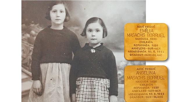 Sabadell homenatja dues germanes menors assassinades per l'exèrcit nazi durant la massacre a Oradour-sur-Glane