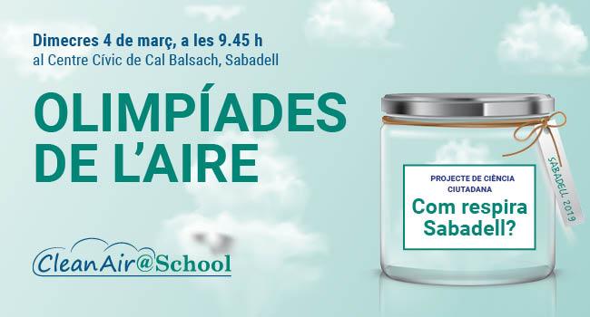 """175 alumnes """"mapifiquen"""" de forma col·laborativa la qualitat de l'aire de Sabadell"""