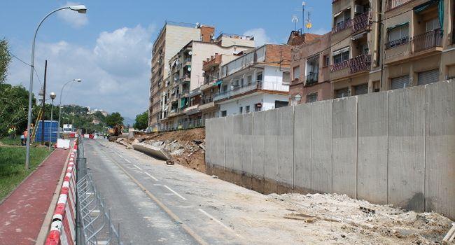 El mur del carrer de l'Onyar es construirà amb la màxima seguretat i amb la menor afectació possible
