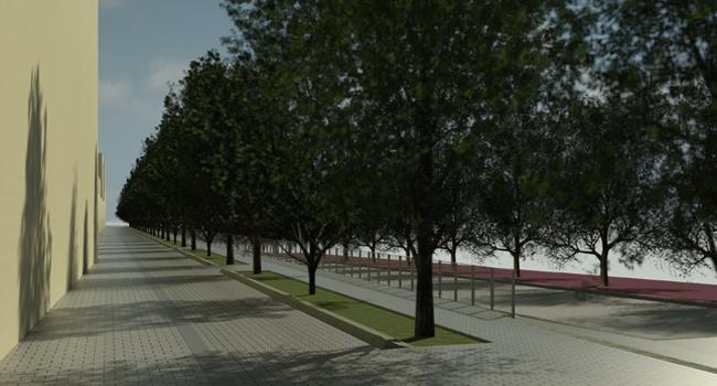 Pas endavant per convertir el carrer de l'Onyar en un passeig arbrat que farà de balcó sobre el riu Ripoll (Copiar)