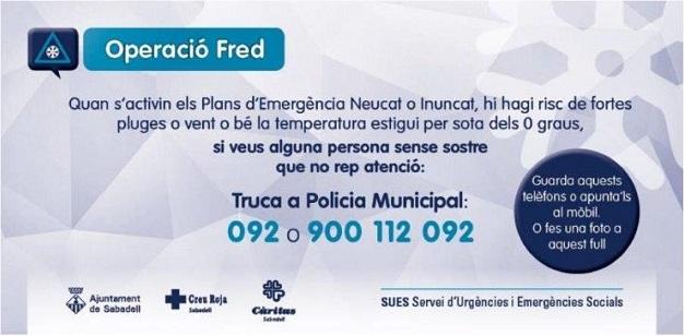 L'Operació Fred ha atès entre 13 i 17 persones cada nit d'aquest cap de setmana