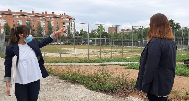 Els barris d'Espronceda i Campoamor guanyaran un gran espai verd amb uns nous jardins a l'antic camp de futbol