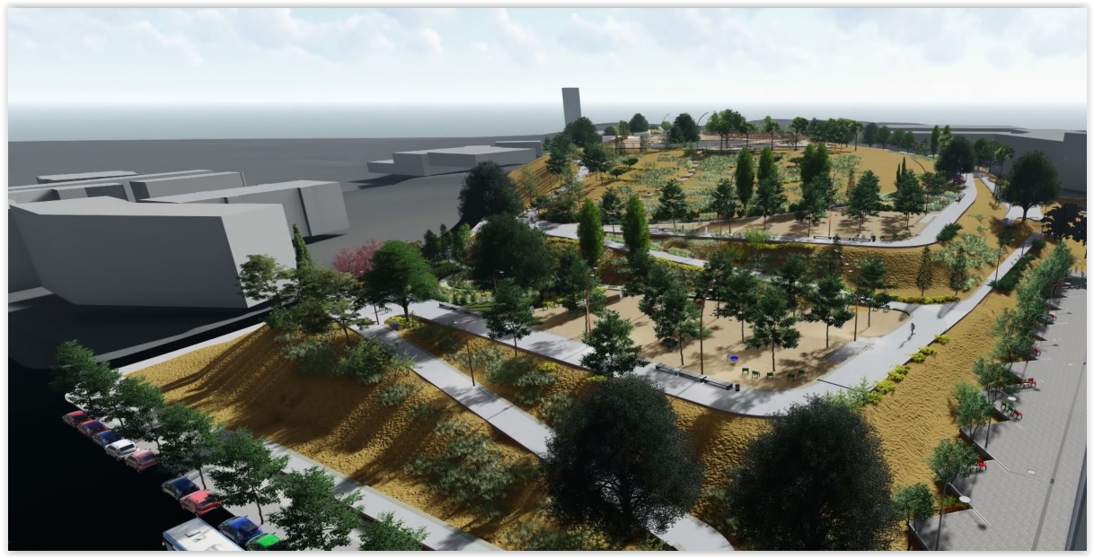 Via lliure a la 3a fase de les obres del parc de les Aigües, un pulmó verd de 7 hectàrees al barri de Can Llong