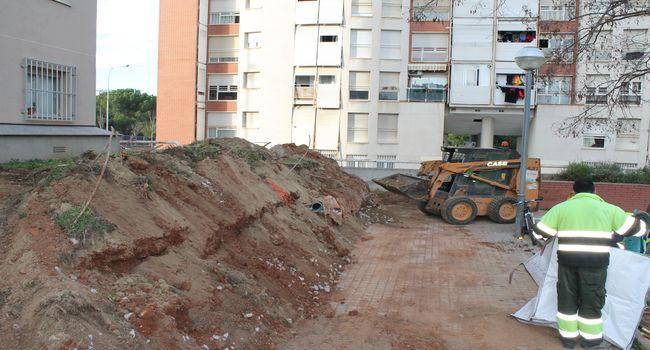 Comencen les obres dels parterres de Sant Julià, que permetran la remodelació de l'espai