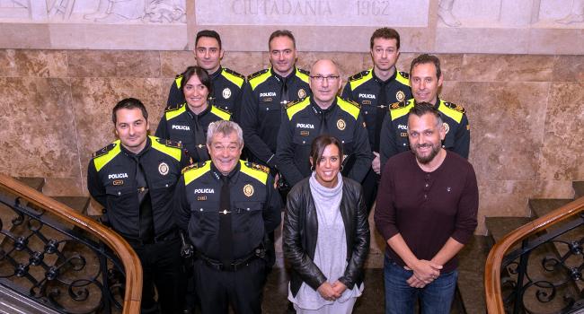 Els nous comandaments de la Policia Municipal prenen possessió del càrrec