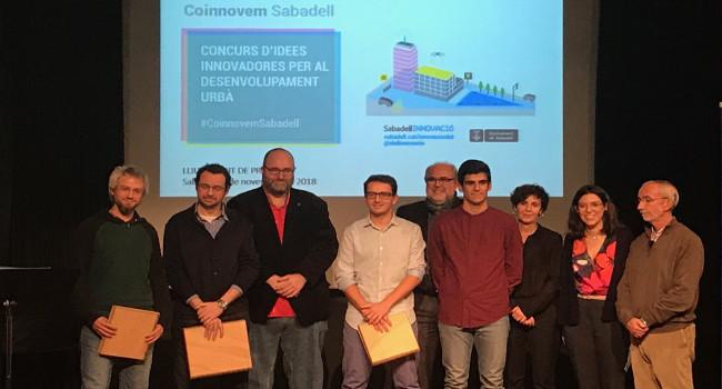 Guanyadors dels premis del Concurs #CoinnovemSabadell d'idees innovadores per al desenvolupament urbà i SmartCAT Challenge
