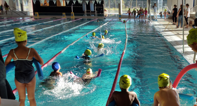 Un total 530 alumnes de 1r de primària es beneficien dels cursos gratuïts de natació