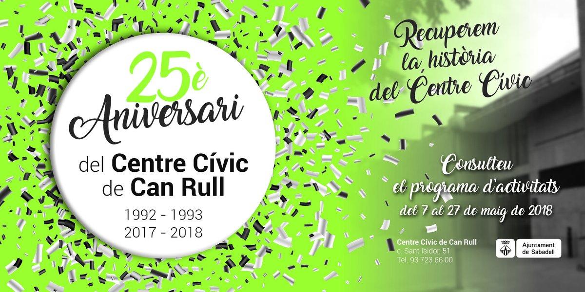 El Centre Cívic de Can Rull celebra el seu 25è aniversari amb una jornada festiva aquest dissabte