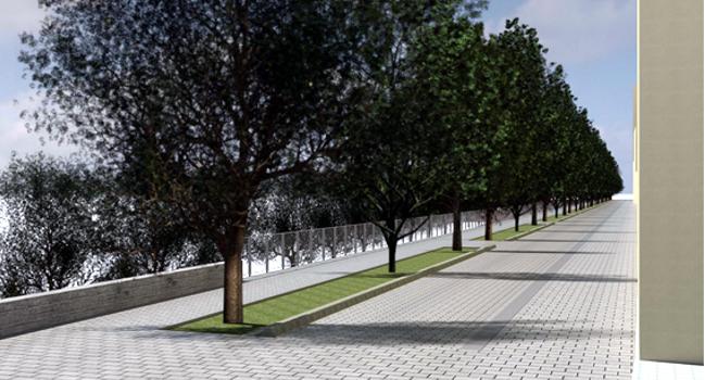 Finalitzen les obres del nou mur del carrer de l'Onyar, a Torre-romeu