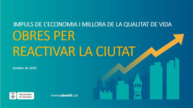 Sabadell invertirà més de 12,7 milions d'euros en 8 obres públiques per millorar la qualitat de vida de les persones i impulsar l'activitat econòmica