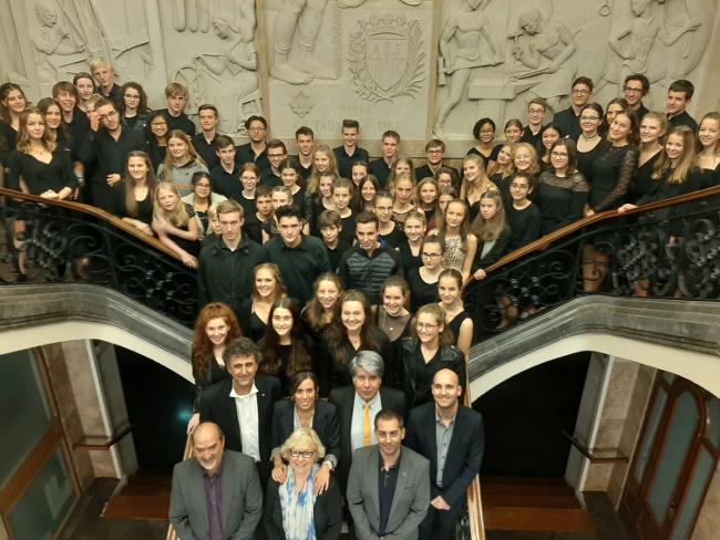 Rebuda institucional a la Jove Orquestra Simfònica de Göppingen