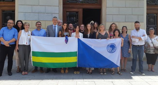 L'Ajuntament rep a Ona Carbonell i Emma Garcia pels èxits assolits en el Mundial de Gwangju