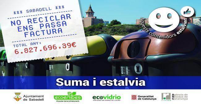 Sabadell impulsa una campanya per conscienciar la ciutadania del cost de no reciclar