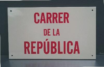 El carrer de la República substitueix el d'Alfons XIII a partir del 14 d'abril