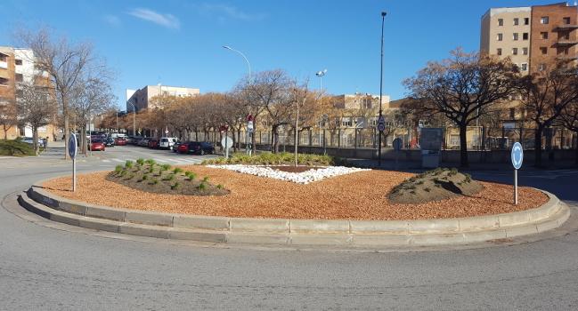 L'Ajuntament remodela la rotonda del carrer de Goya
