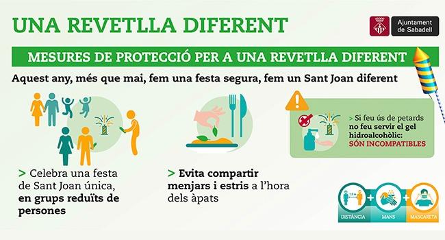 Sabadell activa un dispositiu especial per Sant Joan, que vetllarà per la prevenció, la seguretat i el respecte a les mesures de precaució derivades de la COVID-19