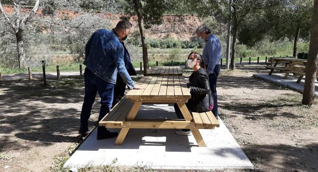 Finalitzen els treballs de renovació de l'àrea de serveis de Sant Vicenç de Jonqueres