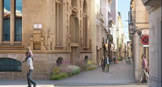Tallament de trànsit al carrer de Sant Pere