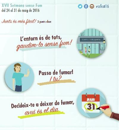 Sabadell se suma a la commemoració del Dia Mundial Sense Tabac