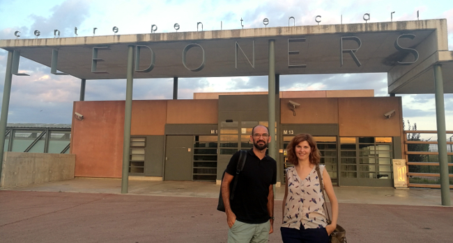 L'alcalde de Sabadell visita el president d'Òmnium Cultural a la presó de Lledoners