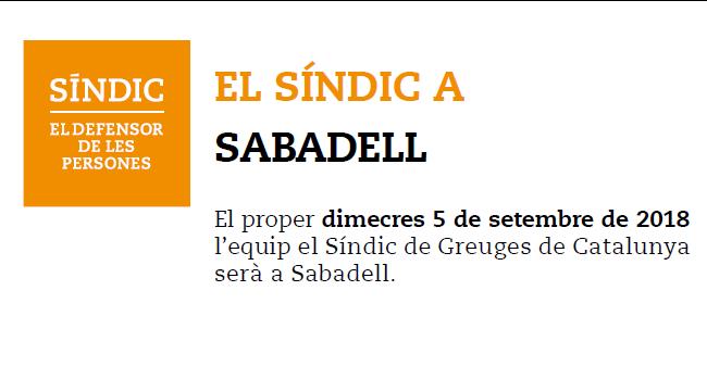 Visita del Síndic de Greuges de Catalunya per atendre consultes i rebre queixes
