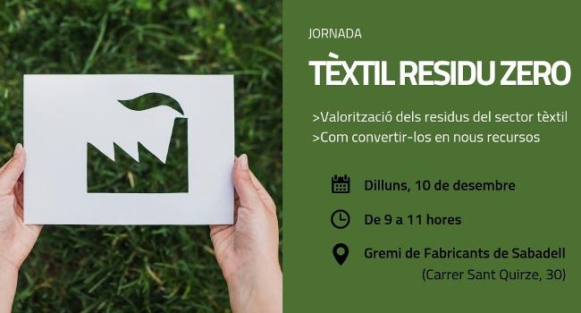 L'Ajuntament de Sabadell i el Gremi de Fabricants presenten el resultat d'un projecte per revaloritzar els residus