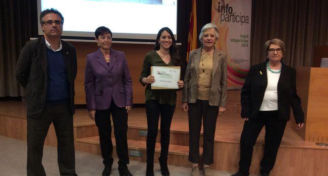 L'Ajuntament de Sabadell rep el Segell Infoparticipa 2016 a la qualitat i transparència de la comunicació pública local