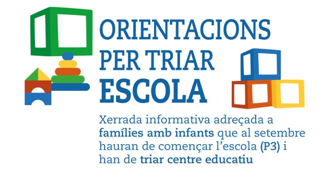 L'Ajuntament organitza xerrades per orientar les famílies en l'elecció del centre escolar