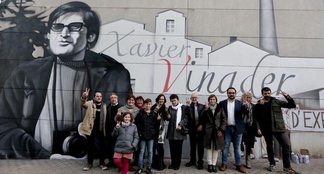 Imatges de l'homenatge a Xavier Vinader