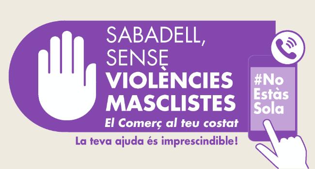 """""""El Comerç al teu costat"""", nova campanya per combatre les violències masclistes a Sabadell"""