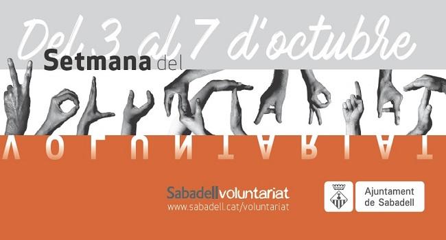 La Setmana del Voluntariat reconeix la tasca de les entitats i els voluntaris de Sabadell